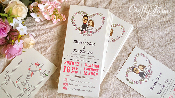 Wedding card malaysia crafty farms handmade caricature wedding caricature wedding invitation card printing stopboris Choice Image