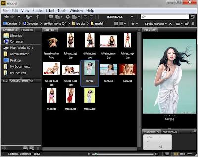 photoshop cs6 : adobe bridge program screen