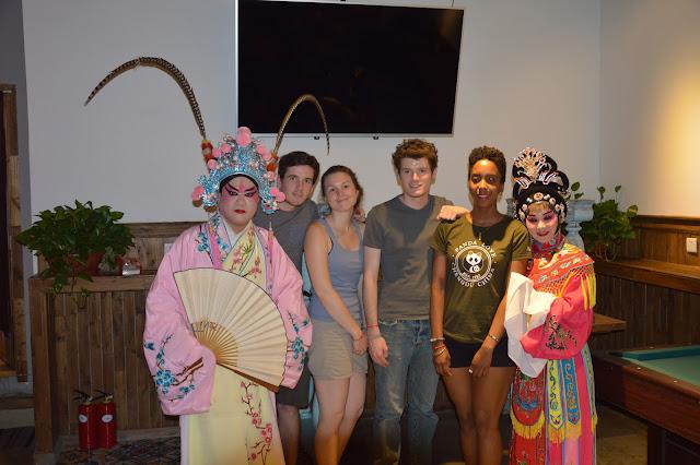 Extrait de l'opéra du Sichuan à l'hôtel Lazybones