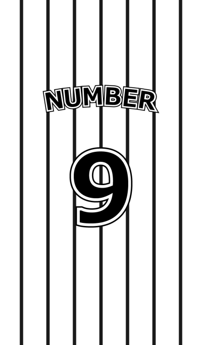 Number 9 stripe version