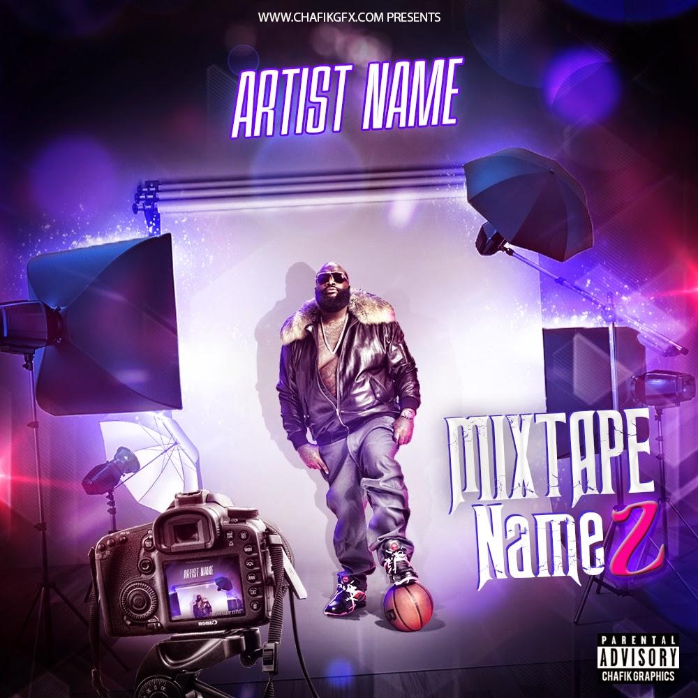 mixtape cover free template chafik graphics