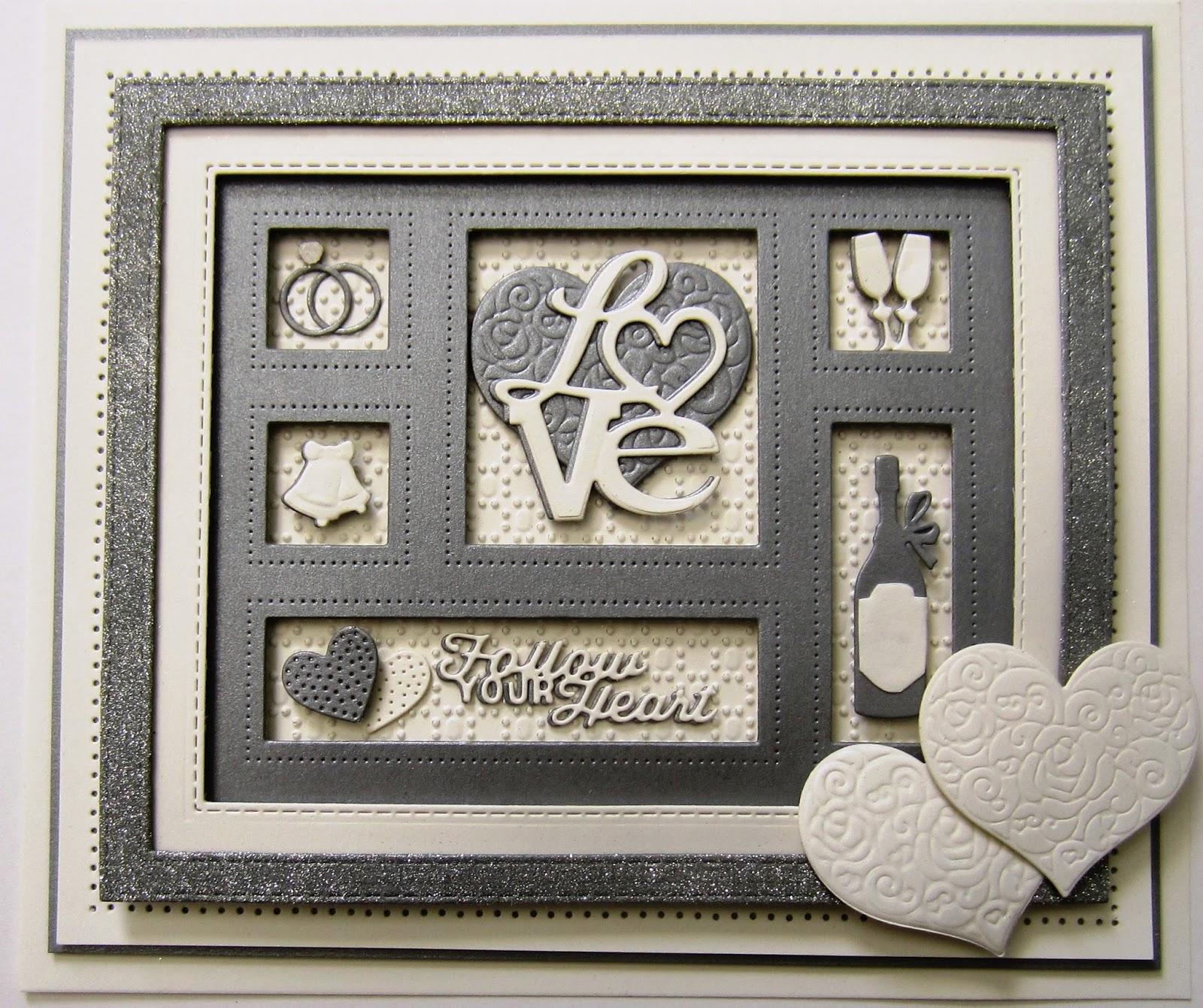 wedding shadow card