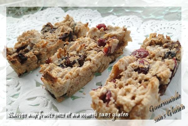 Barres aux fruits secs et muesli sans gluten