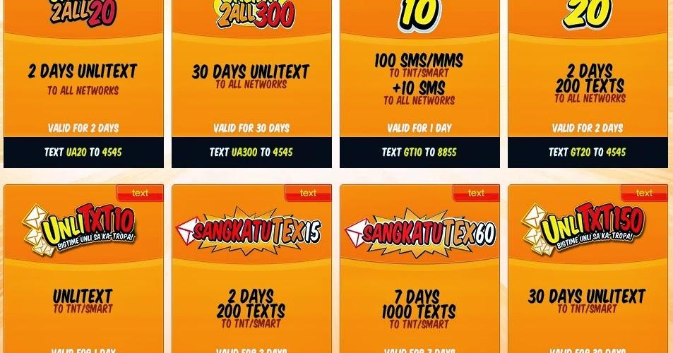 2db217db00 Talk N Text List of Cheap Promo - Call