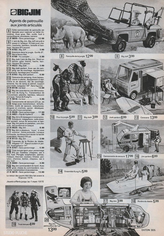 Studio pluche les jouets de no l 1974 chez eaton - Porte avion gi joe a vendre ...