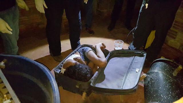 Mulher é encontrada morta estrangulada dentro de mala na Capital