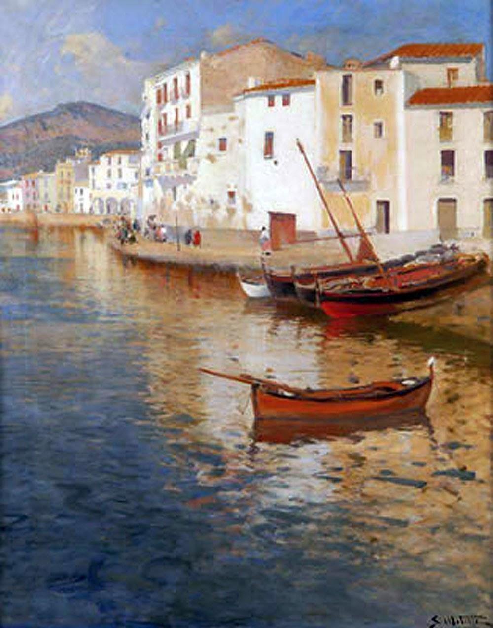 Segundo Matilla y Marina, Cadaqués en pintura, Paisajes de Cadaqués, Paseo de Ronda de Cadaqués