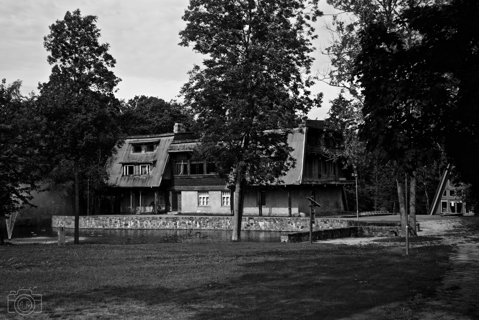 Sigulda photographie carnet voyage Nikon D3100 B&W noir et blanc black and white