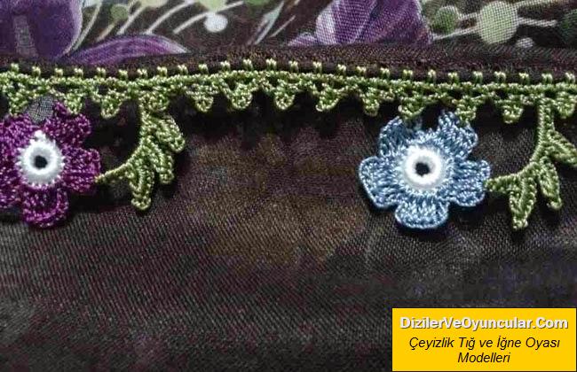 2017 Çiçek Oyalı Çeyizlik Yemeni Modeli