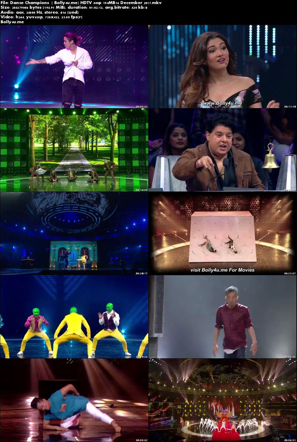 Dance Champions HDTV 480p 200MB 16 Dec 2017 Download