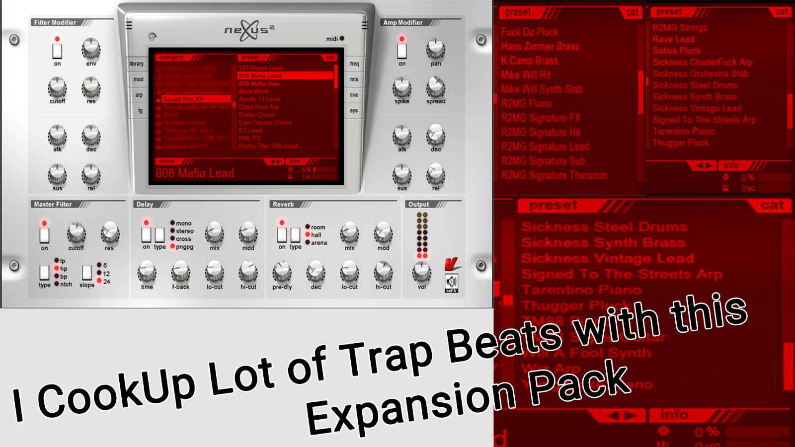 nexus 2 trap expansion presets download