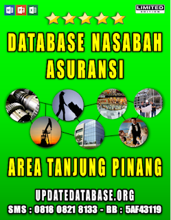 Jual Database Nasabah Asuransi Tanjung Pinang