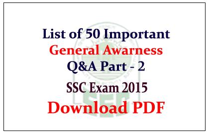 Cgl general pdf 2015 ssc awareness