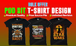 I will make t shirt design for your pod platforms