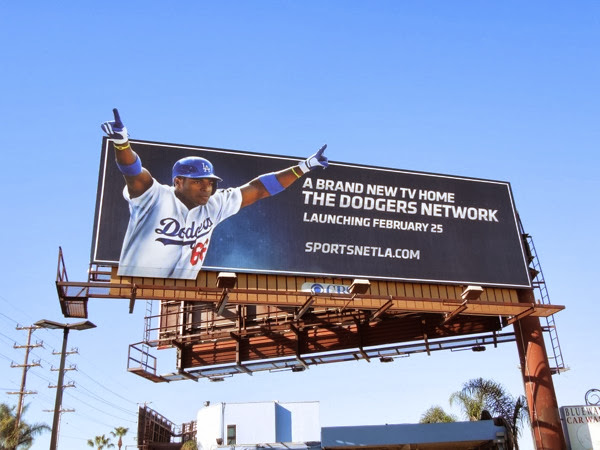 Dodgers Network Yasiel Puig billboard