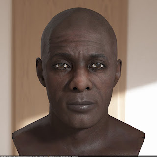 3d model Idris Elba head V2 A