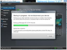 Proses Backup Data Blackberry ke Komputer selesai