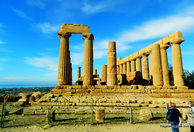 Templo de Juno, no Vale dos Templos de Agrigento