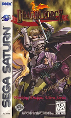 Front cover of Dragon Force for the Sega Saturn.
