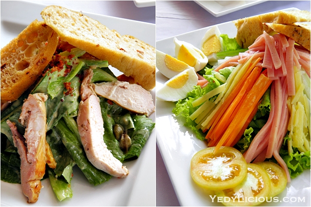 Grilled Chicken Caesar Salad and Chef Salad Don Vito Italian Restaurant Boracay