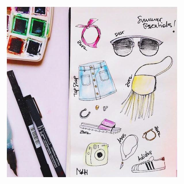 accessories sketch skettchbook fashion