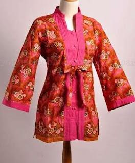baju batik cewek lengan panjang
