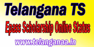 Telangana TS Epass Scholarship Online Status