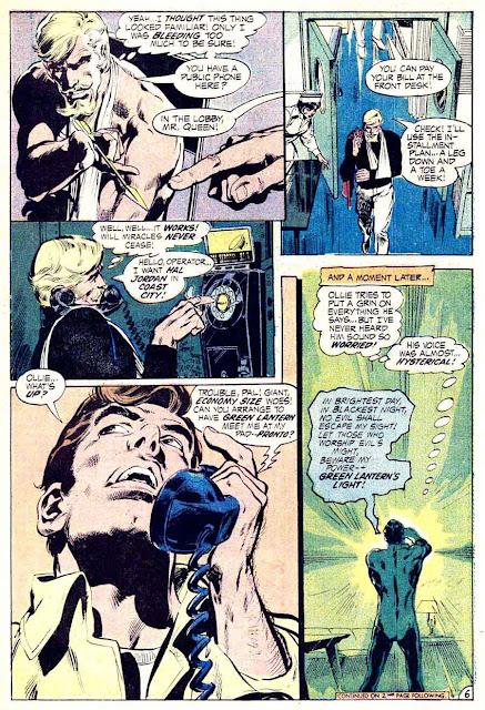 Green Lantern Green Arrow #85 dc comic book page art by Neal Adams
