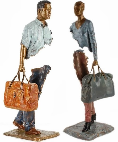 06-French-Artist-Bruno-Catalano-Bronze-Sculptures-Les Voyageurs-The-Travellers-www-designstack-co