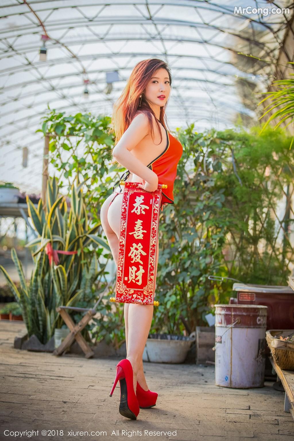 Image XIUREN-No.887-Xi-Xi-Bai-Tu-MrCong.com-013 in post XIUREN No.887: Người mẫu Xi Xi Bai Tu (西希白兔) (44 ảnh)