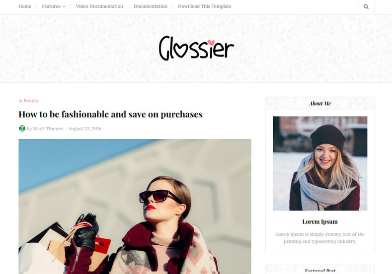 Glossier Blogger Template Blogger Templates Gallery