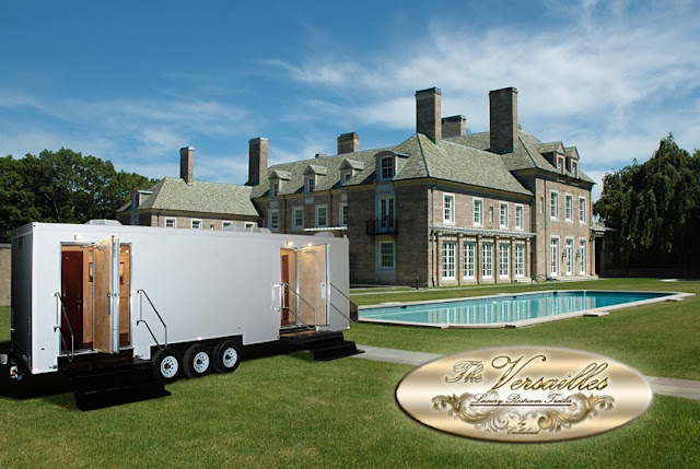 Luxury Restroom Trailer: The Versailles from CALLAHEAD