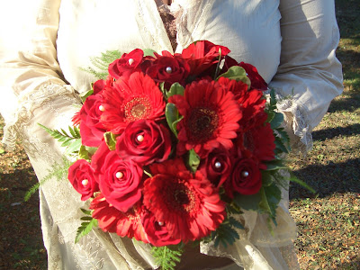 Romantic Red Bridal Bouquet by Stein Your Florist Co.