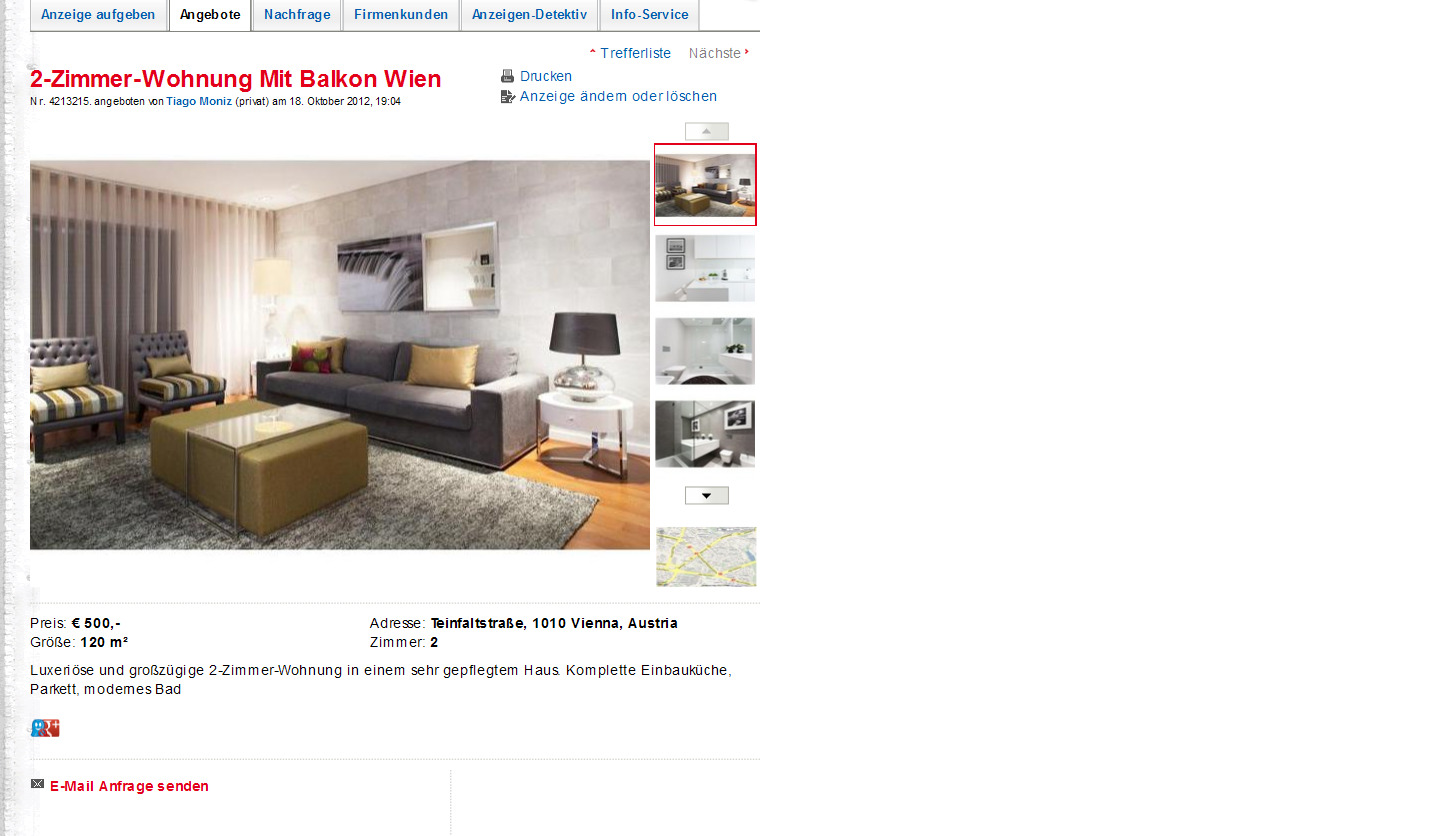 2 zimmer wohnung mit balkon. Black Bedroom Furniture Sets. Home Design Ideas