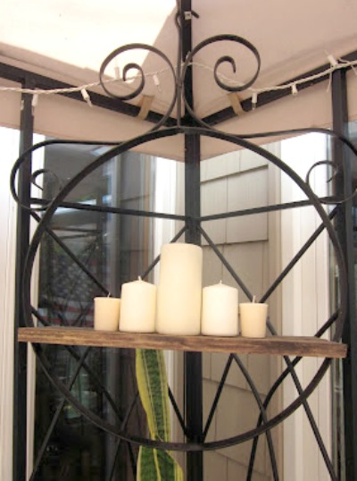 How to turn a bird perch into a candle chandy. homeroad.net
