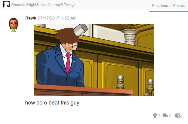 Phoenix Wright Ace Attorney Trials and Tribulations coffee thrown on face