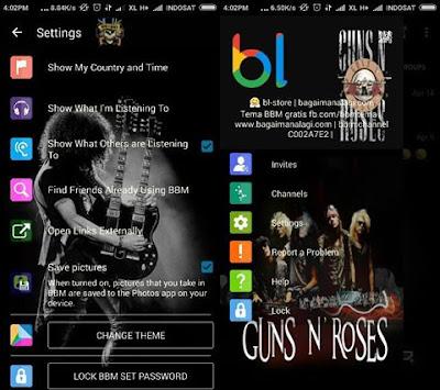 BBM Mod Guns N' Roses Terbaru