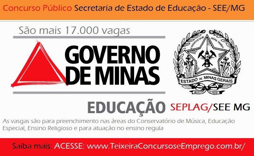 Apostila Concurso Secretaria de Educação (SEPLAG/SEE/MG) Ensino Regular - carreiras de Assistente Técnico de Educação Básica