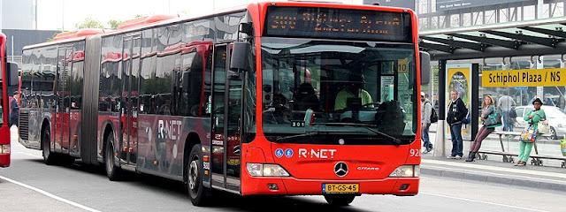 Ônibus do aeroporto Schiphol para o centro de Amsterdã