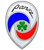 Logo Panoz marca de autos
