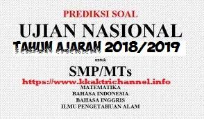 SOAL LATIHAN UN (UNBK) IPA SMP TH 2019 10 PAKET