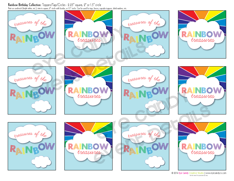rainbow birthday party printables, rainbow, colors of a rainbow