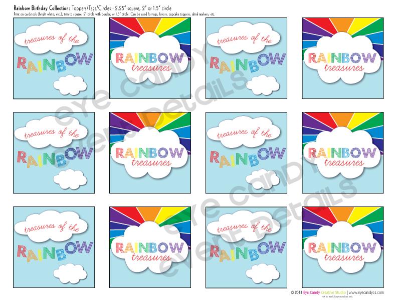 rainbow birthday party printables, rainbow, colors of a rainbow