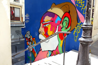 Sunday Street Art : Raphaël Federici aka Paris Sketch Culture - rue des Degrés - Paris 2