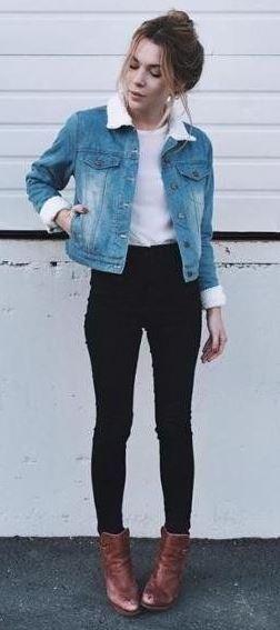 Stylish ways of wearing denim jackets