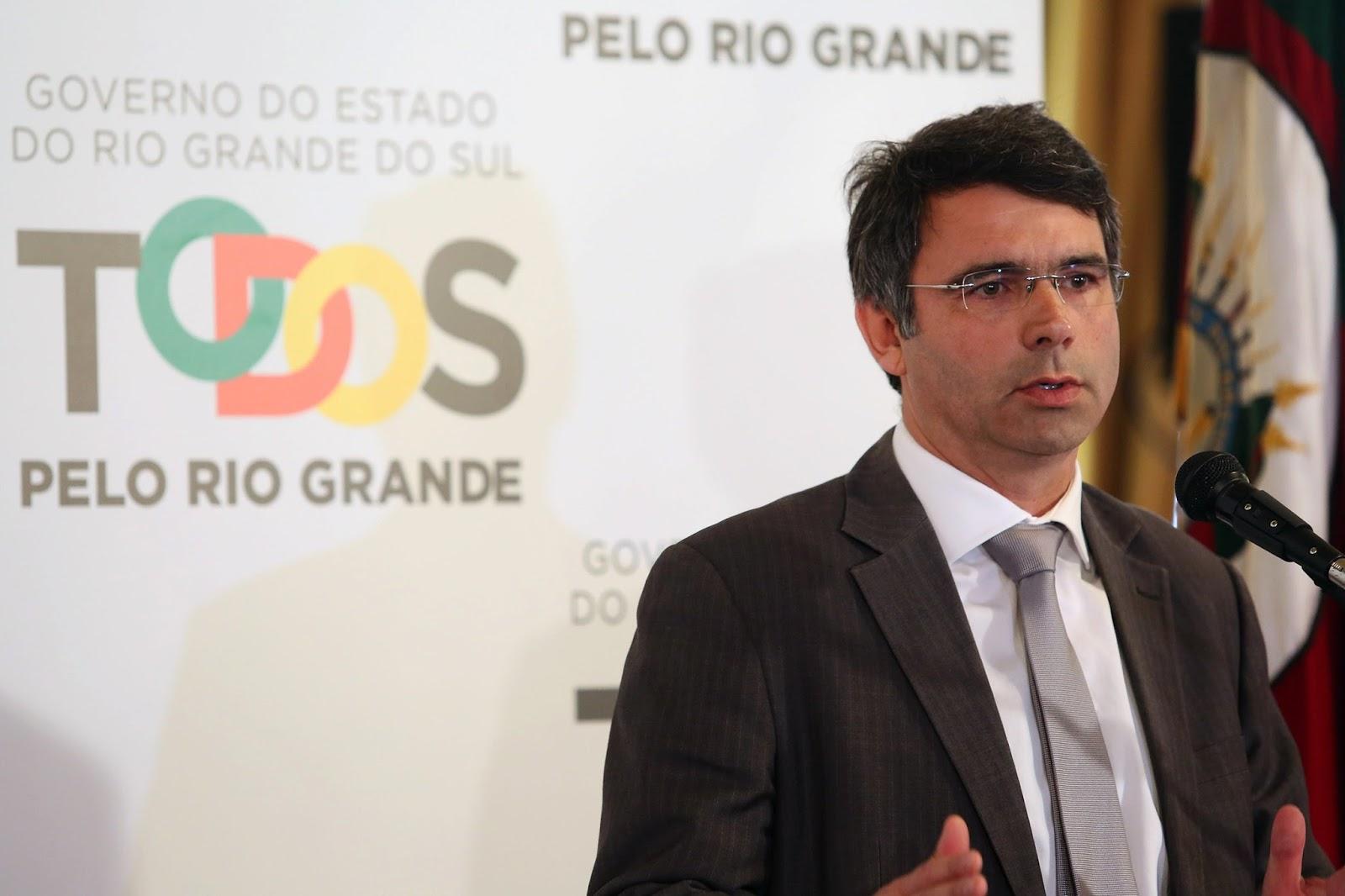"""""""A adesão ao regime é o único caminho que o Rio Grande do Sul tem para ter o mínimo de governabilidade nos próximos anos"""", disse Branco. / Karine Viana/Palácio Piratini"""