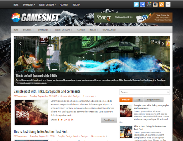 GamesNet blogger template