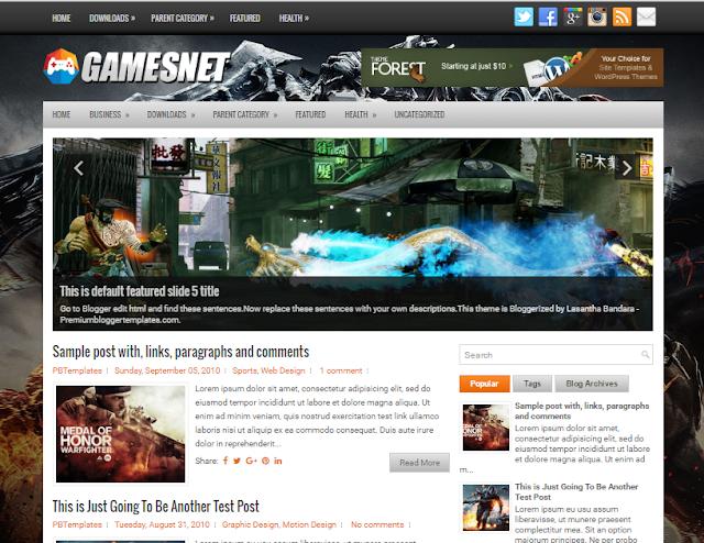 GamesNet blogger template