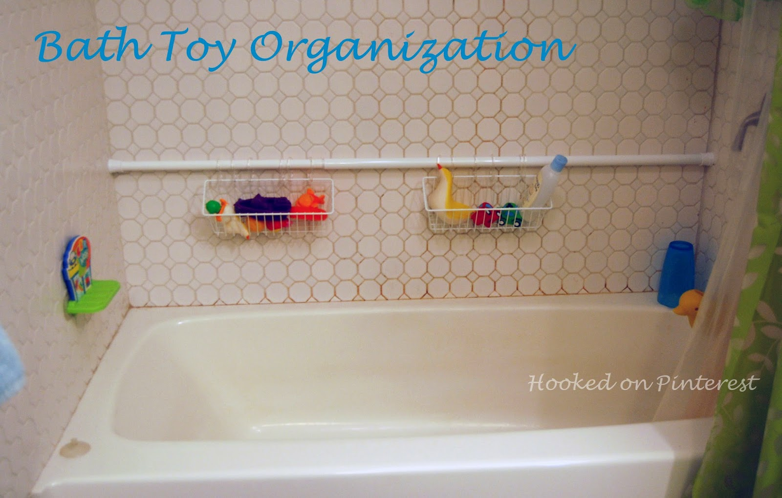 bathroom toy storage ideas hooked on organization bath storage 16141