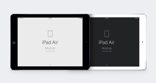 iPad Air psd gratis